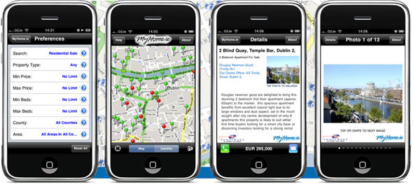 MyHome.ie launch property search iPhone App