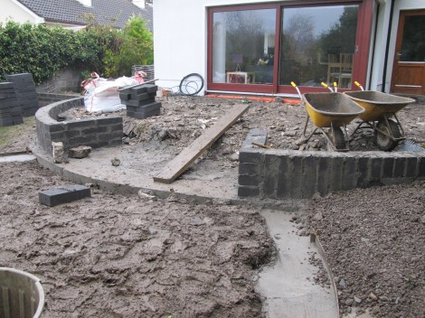 New patio landscaping in Cabinteely
