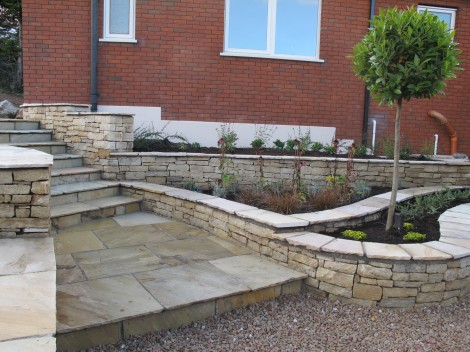 Higher level garden design and landscaping