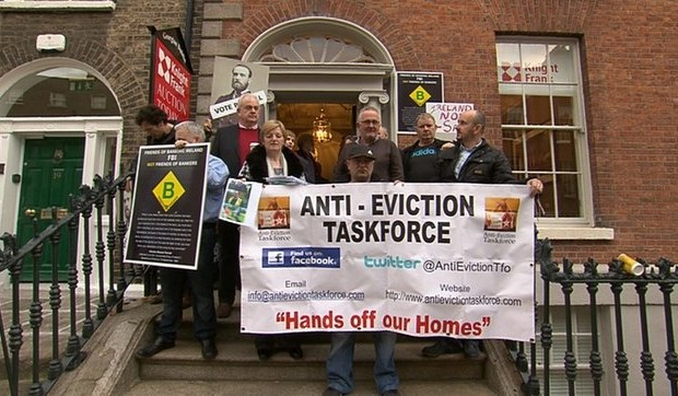 Protestors occupy Knight Frank offices in Dublin