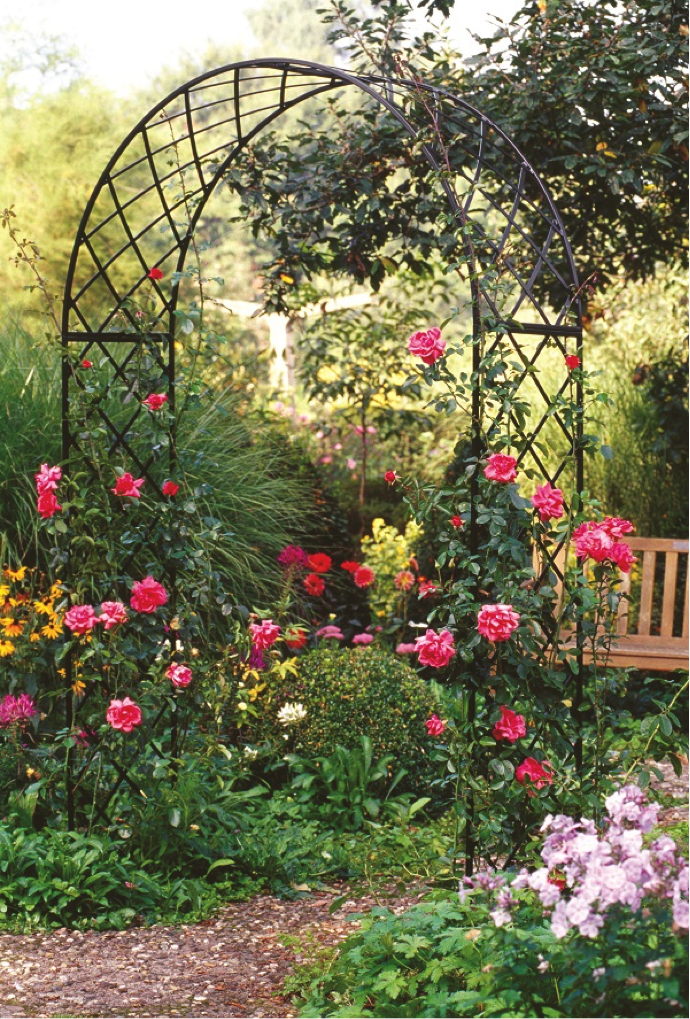 Rose arches from www.classicgardenelements.ie