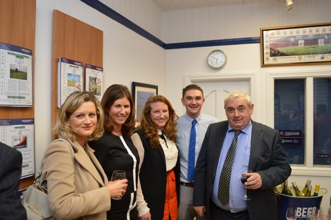 Annie Fitzgibbon MyHome.ie, Adrianna Hegarty of Hegarty Properties, Niamh Hegarty, Kyle Kennedy of Hegarty Properties and Denis Lynes of Lynes & Lynes Auction House at the 10th anniversary celebrations of Hegarty Properties on Friday